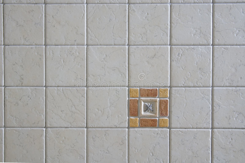 Wall detail. With littles square tiles stock photos