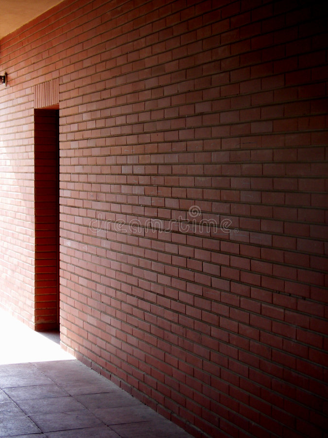 Wall With Door Stock Photography