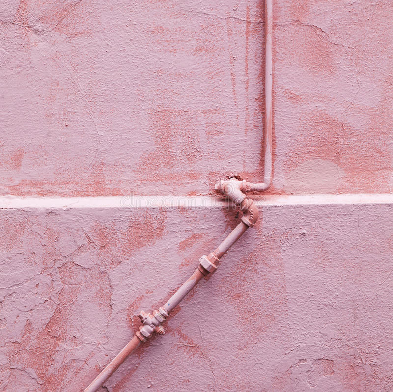 Wall with exit pipe royalty free stock photography