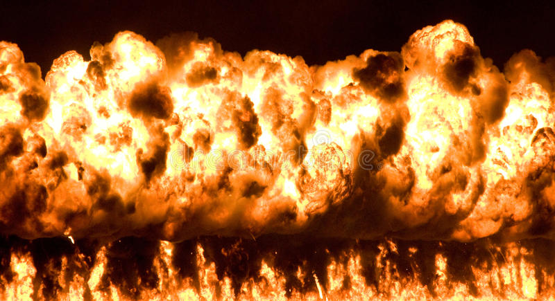 Download Wall of fire stock image. Image of intense, plume, explode - 12451233