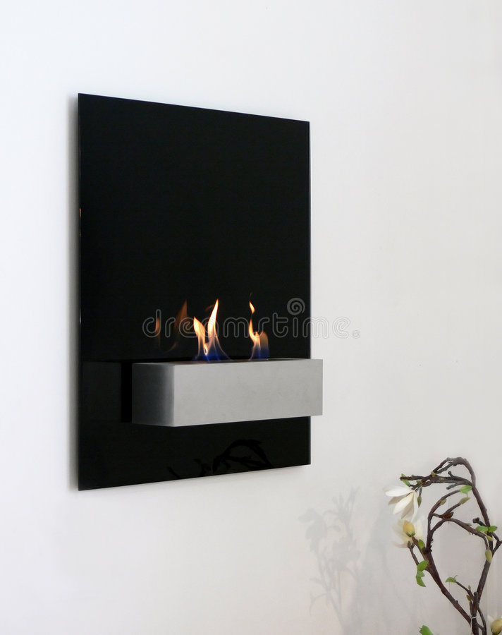 Download Wall Fire stock image. Image of modern, place, hang, warm - 3373303