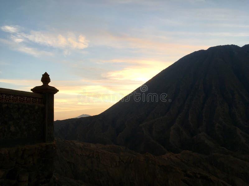 Wall of Fire. Taken near Mount Bromo stock photo