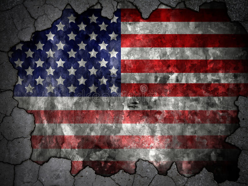 Wall Flag Of The United States Royalty Free Stock Images
