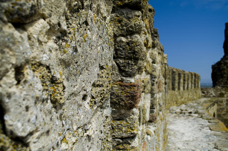 Wall of the Fortress. The wall of the Ackerman fortress on the bank of the estuary stock photography