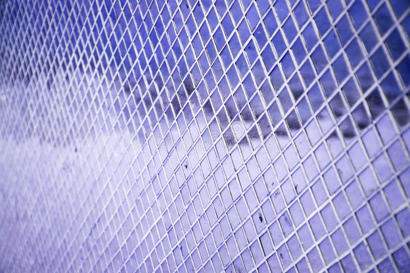 Wall glass mosaic reflection of sky and cloud royalty free stock images