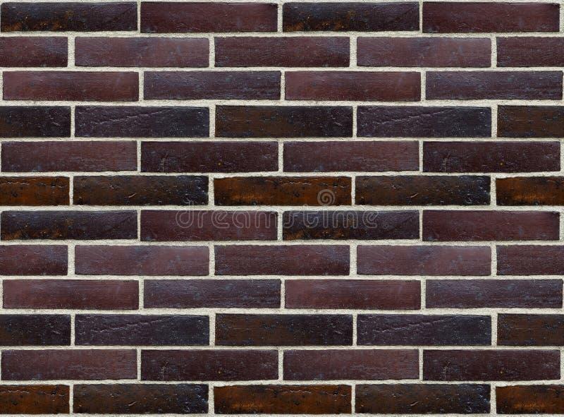 Wall of glazed bricks (seamless background). Precise seamless background appropriate for multiplying royalty free stock photo