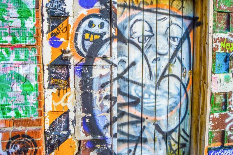 Downtown Toronto graffiti stock images