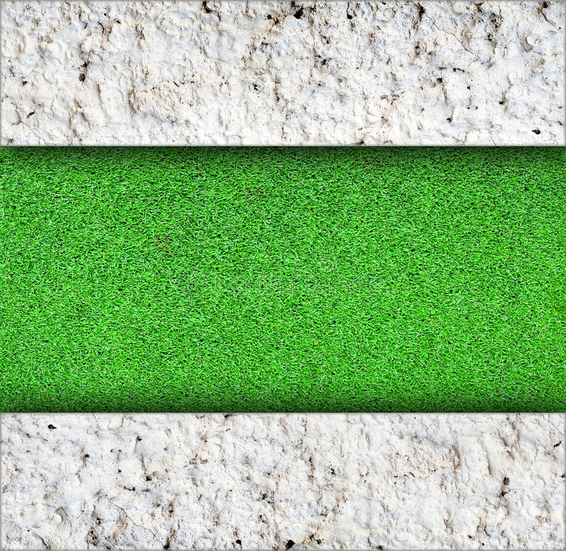 Download Wall With Green Grass Background Stock Photo - Image of decor, floor: 39515180