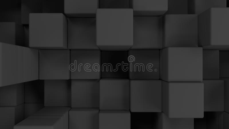 Wall of grey cubes vector illustration