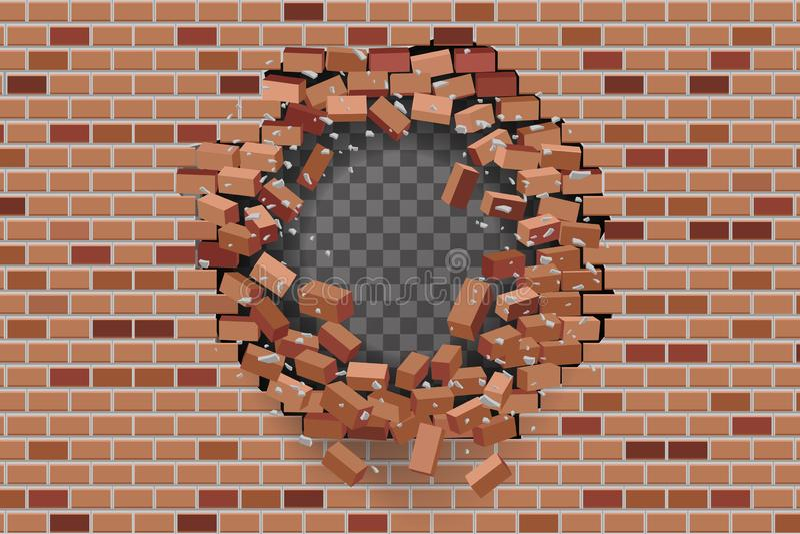 Hole Brick Wall Transparent Background Stock Illustrations 21 Hole