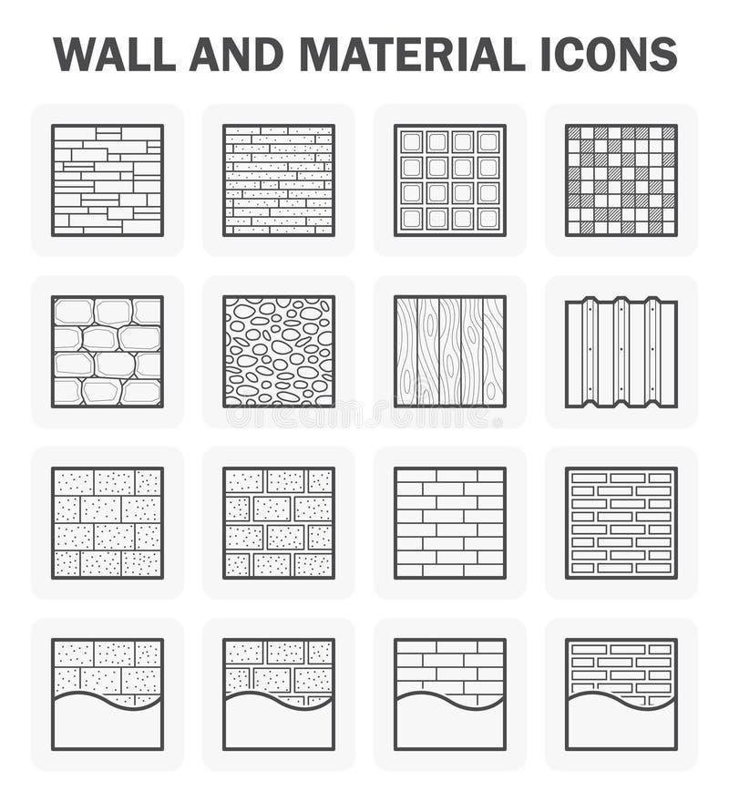 Wall icon sets vector illustration