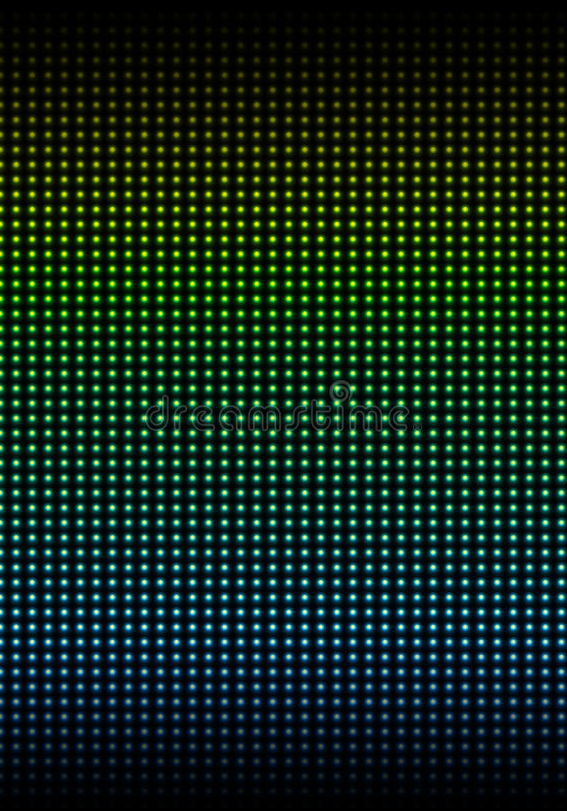 The wall illuminated with colored stock photo