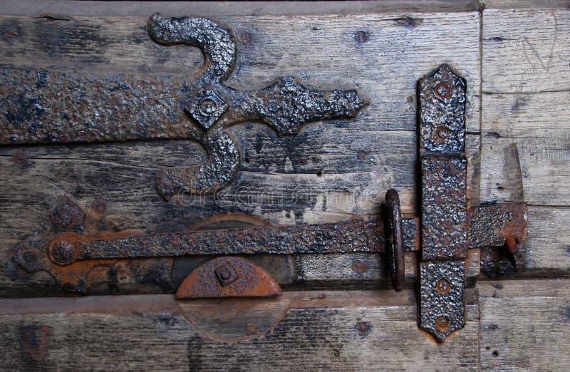 Wall, Iron, Metal, Wood stock photo