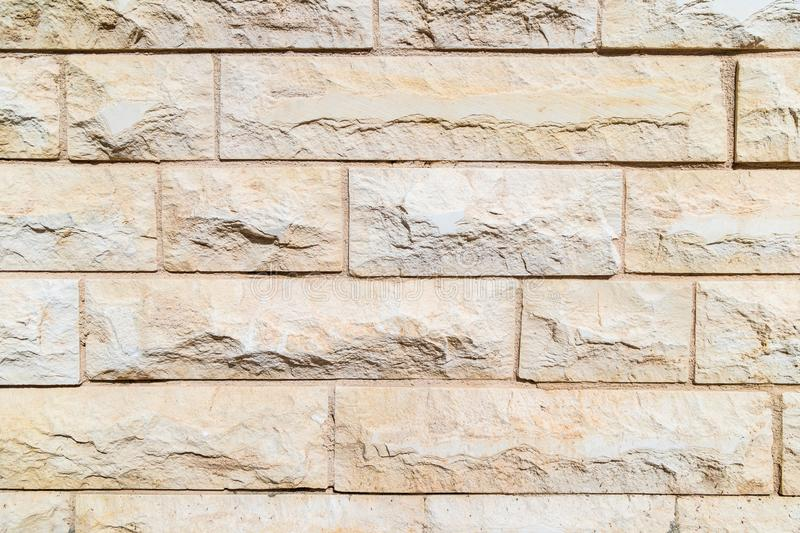 Wall from the Jerusalem stone as texture background surface for design and decoration royalty free stock photography