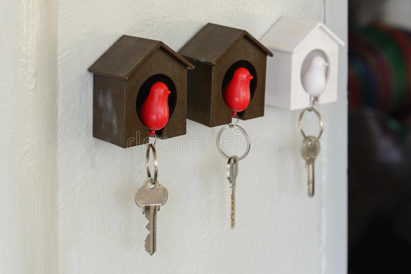 Wall key holder. Home decorate royalty free stock photography