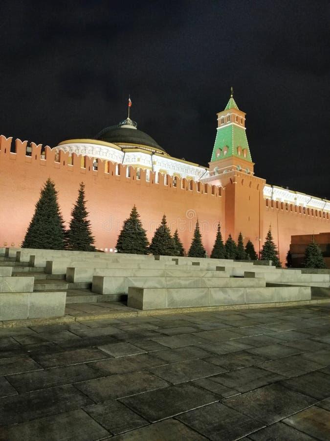 The wall of the Kremlin stock photo