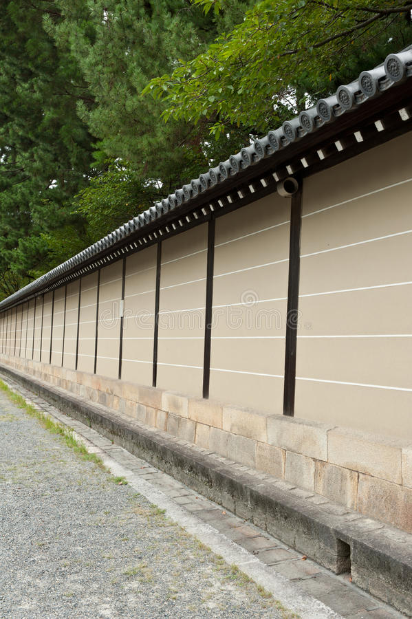 Download Wall in Kyoto stock image. Image of japan, castle, kyoto - 33705827