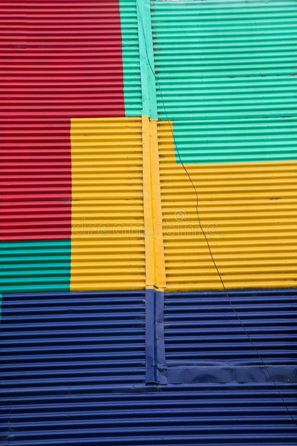 Wall in La Boca, Buenos Aires. A colourful wall in La Boca, Buenos Aires royalty free stock images