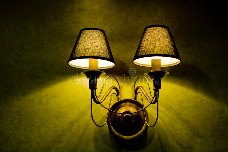 Download Wall lamp stock image. Image of decorating, lights, antique - 2906383