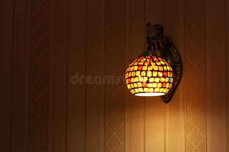 Wall lamp stock photo