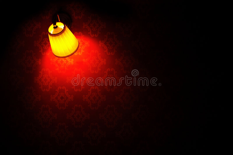 Download Wall Lamp On Bright Wallpaper Background Stock Image - Image: 3714793