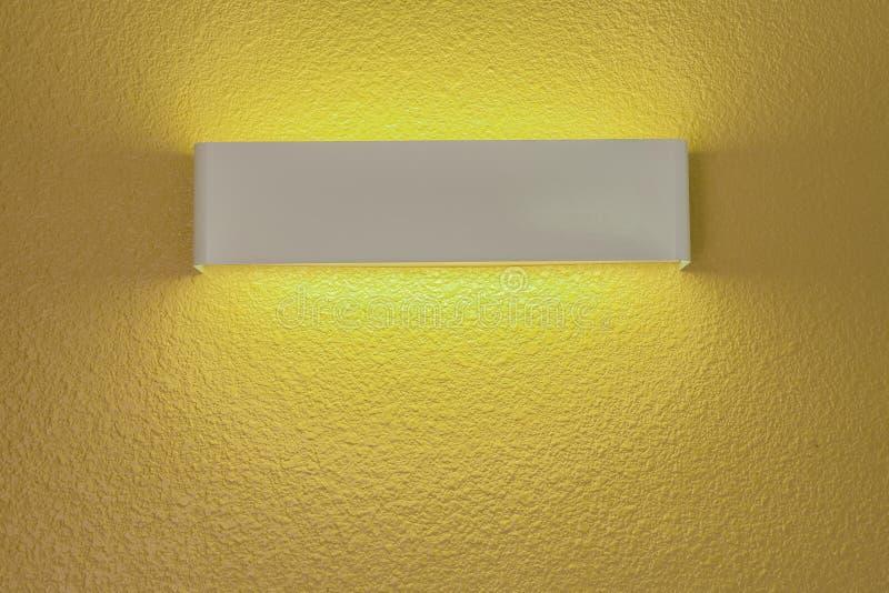 Wall lamp with light shade stock photos
