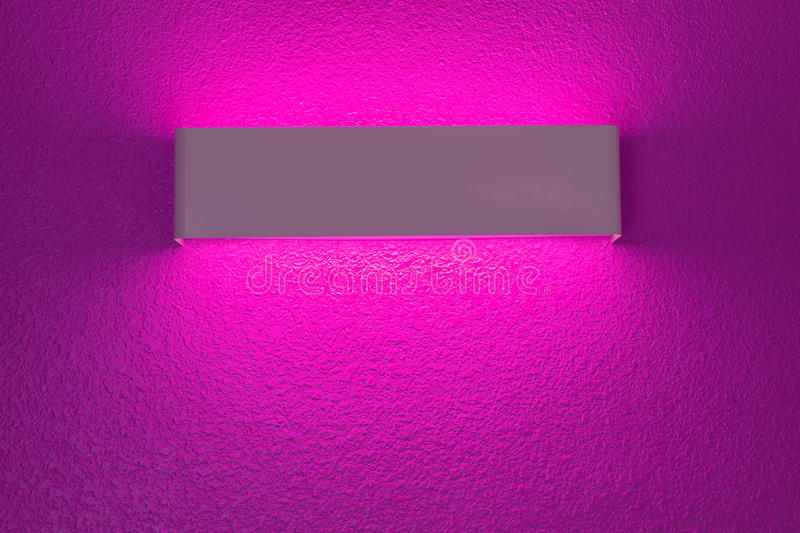 Wall lamp with light shade royalty free stock image