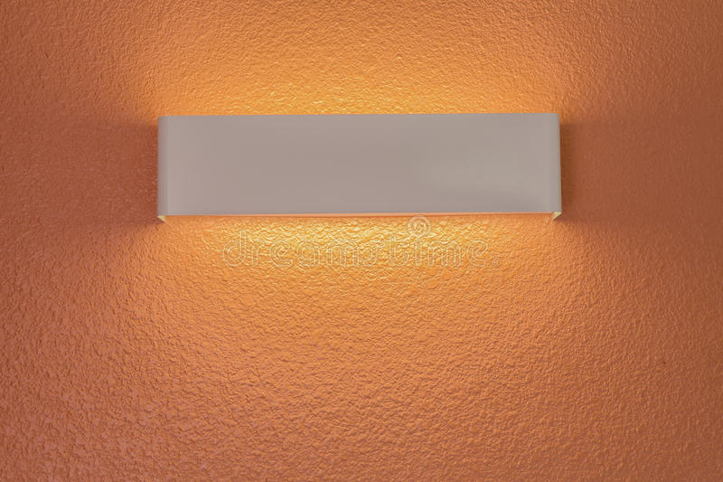 Wall lamp with light shade stock image
