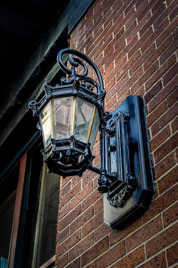 Wall Lamp in New Orleans LA stock photo
