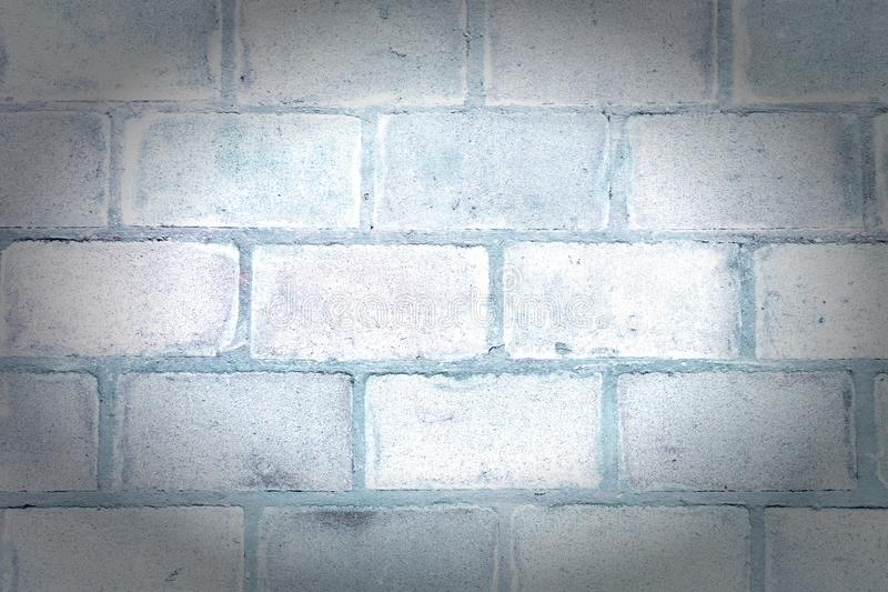 Wall of large blocks. Blank background with masonry texture. Photo with a vignette. stock image