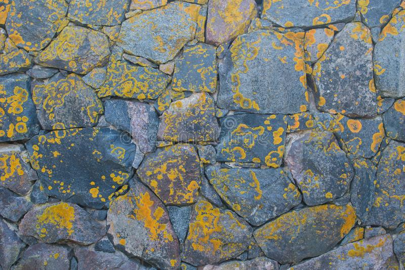 Wall of large natural stones. royalty free stock photography