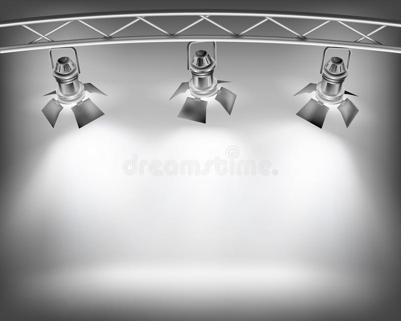 Wall with lights. For show. Vector illustration