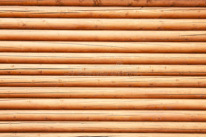 Wall from logs royalty free stock image