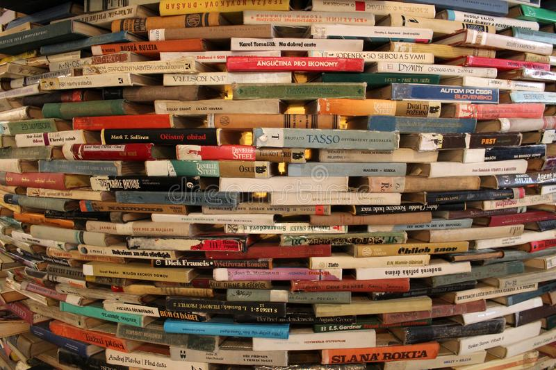 The Wall made of books royalty free stock photo
