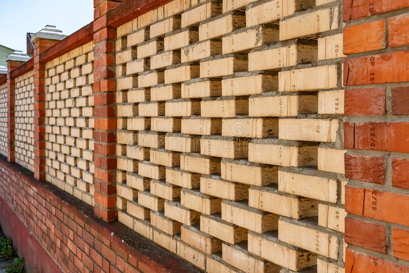 Wall made with bricks. In Serbia royalty free stock photos