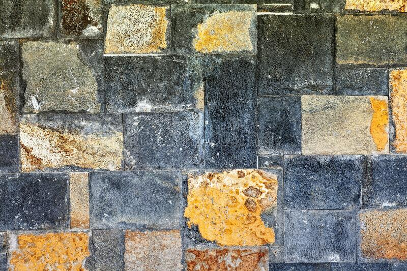 Brick Wall In Mauritius Island, Africa royalty free stock photo