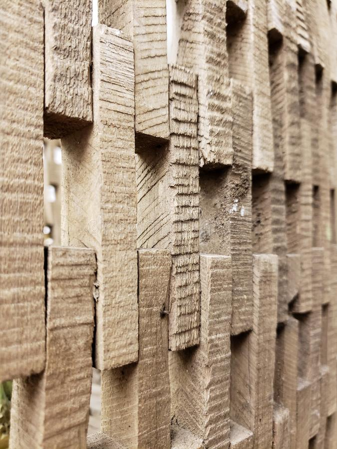 Wall made of cut wood textures and background. A wall made of cut wood textures and background royalty free stock photo