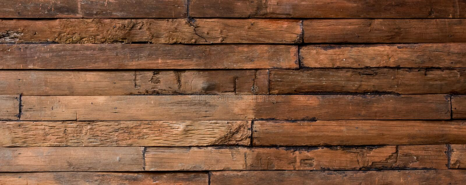 Wall made of wooden planks. Close up of wall made of wooden planks royalty free stock photo