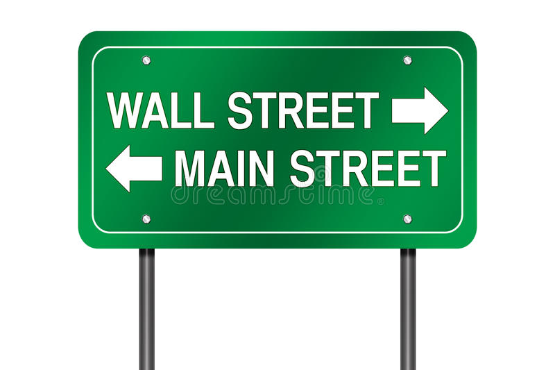 Wall and Main street sign stock illustration