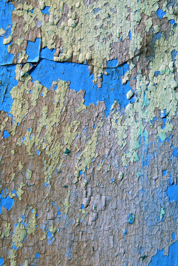 Wall with marked weathered pattern paint stock image