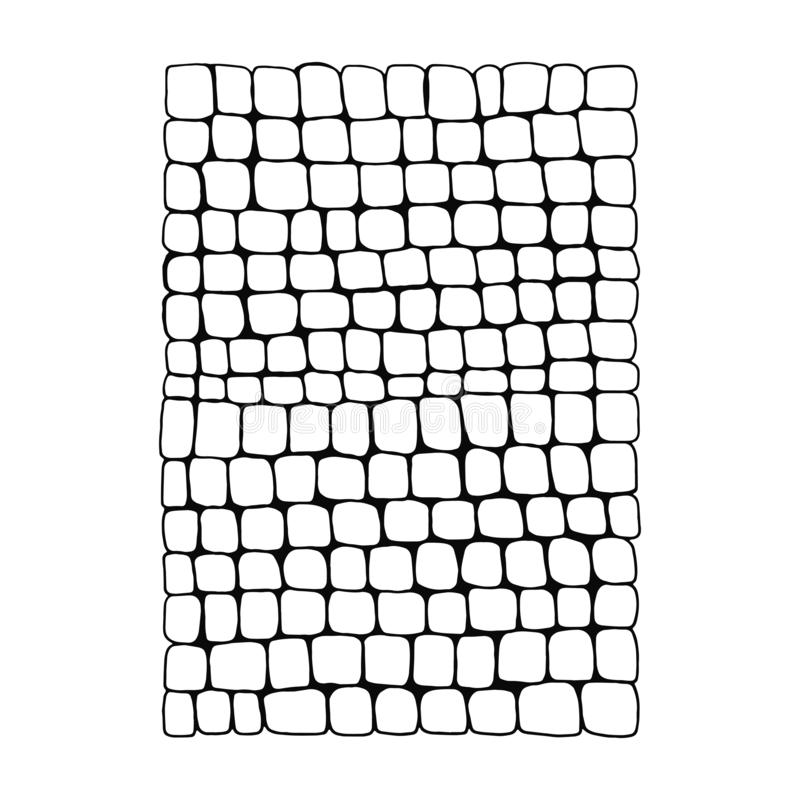 Wall masonry isolated on white background. texture of paving stone.  vector illustration