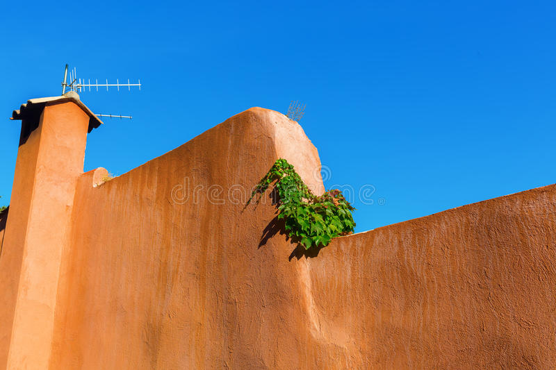 Wall in a Mediterranean town royalty free stock image