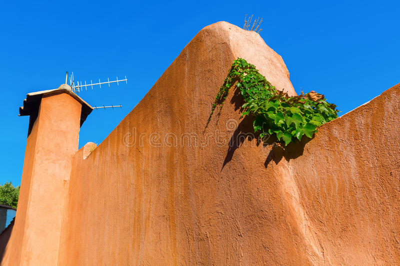 Wall in a Mediterranean town stock image