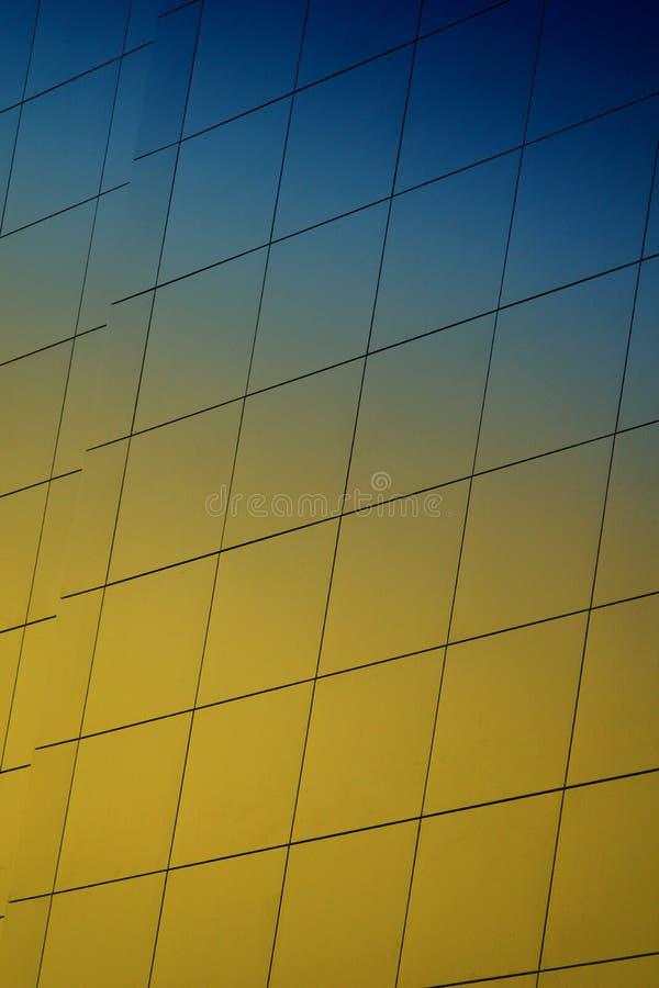 Wall of a modern building stock photos