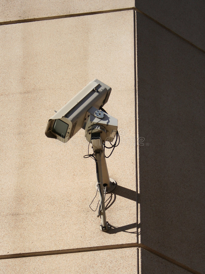 Download Wall mounted CCTV camera stock photo. Image of technology - 1277710