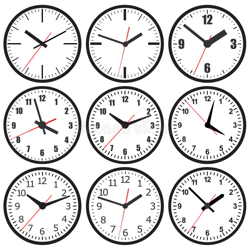 Free Wall Mounted Digital Clock. Royalty Free Stock Photos - 48769338
