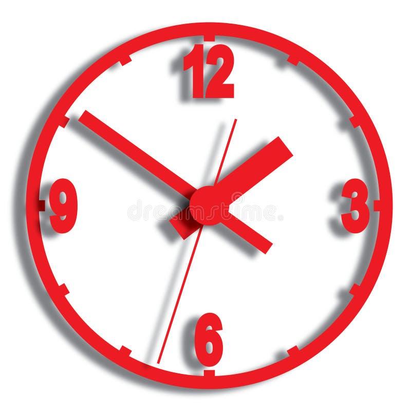 Download Wall Mounted Digital Clock. Stock Vector - Illustration of start, minute: 31859797