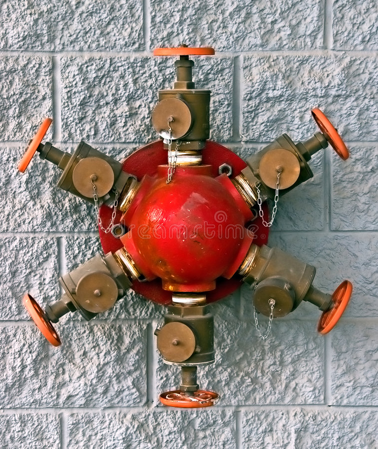 Free Wall Mounted Fire Hydrant Stock Image - 7384041