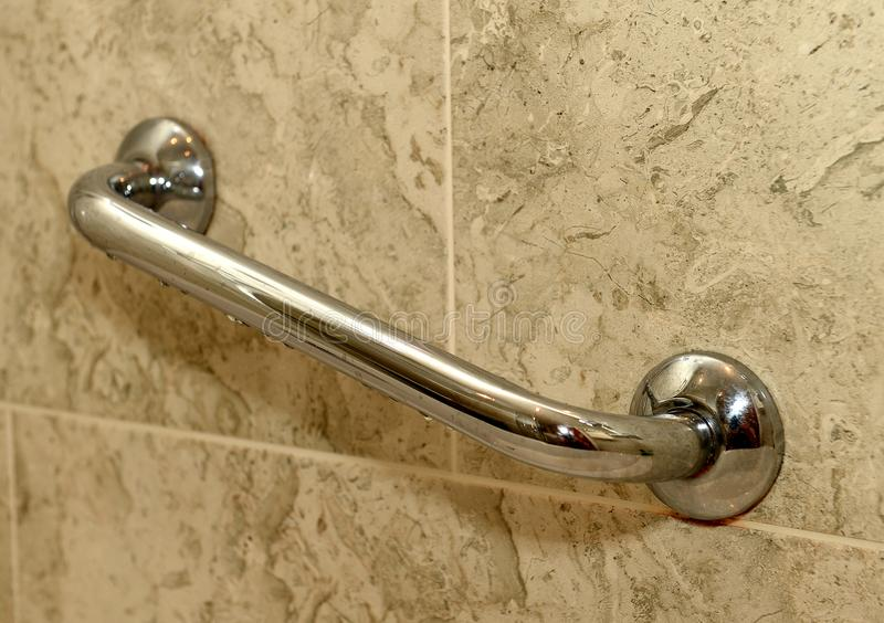 Wall grip in bathroom royalty free stock images