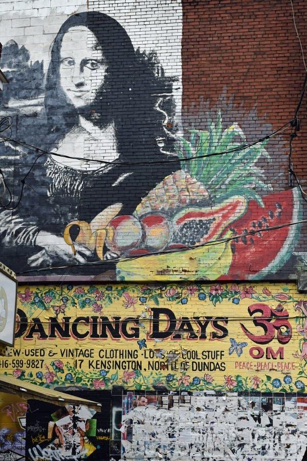 Wall Mural, Kensington Market, Toronto, Canada stock image